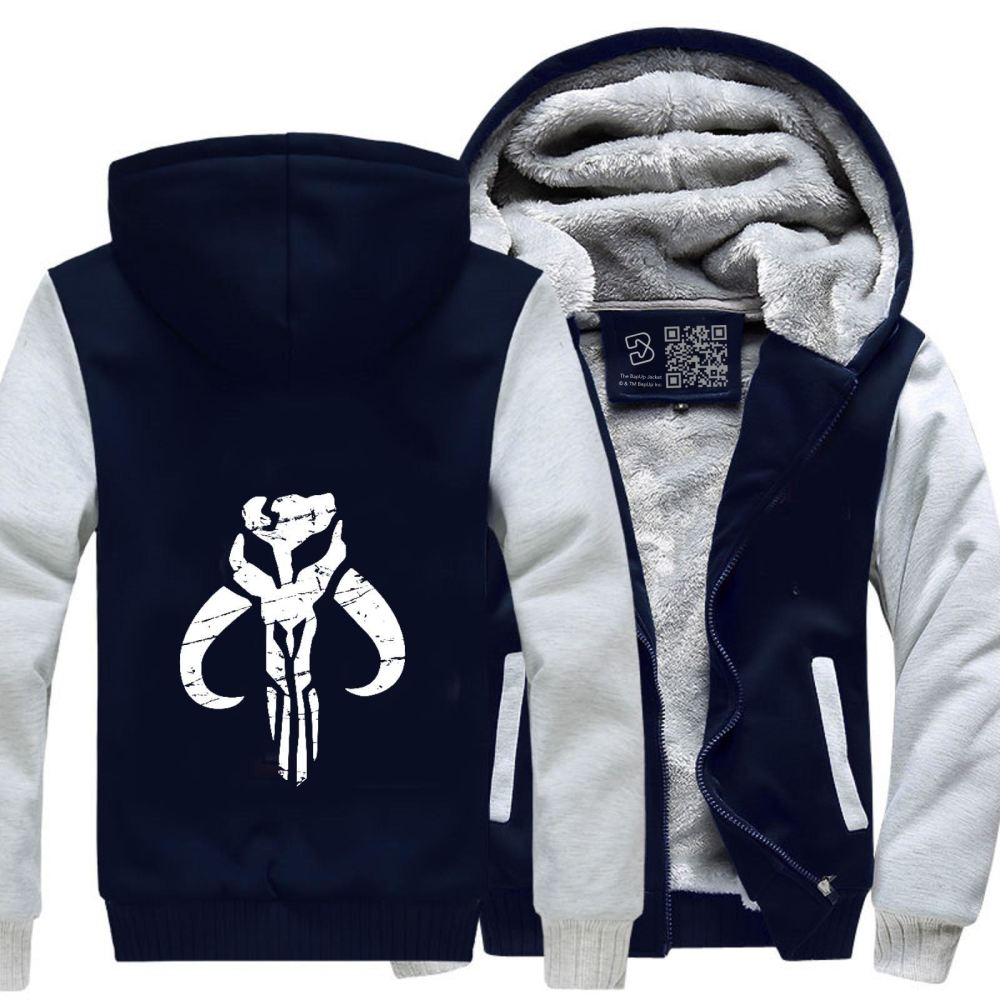 Mandalorian Star Wars Fleece Jacket - White / X-Small - Productgenapi