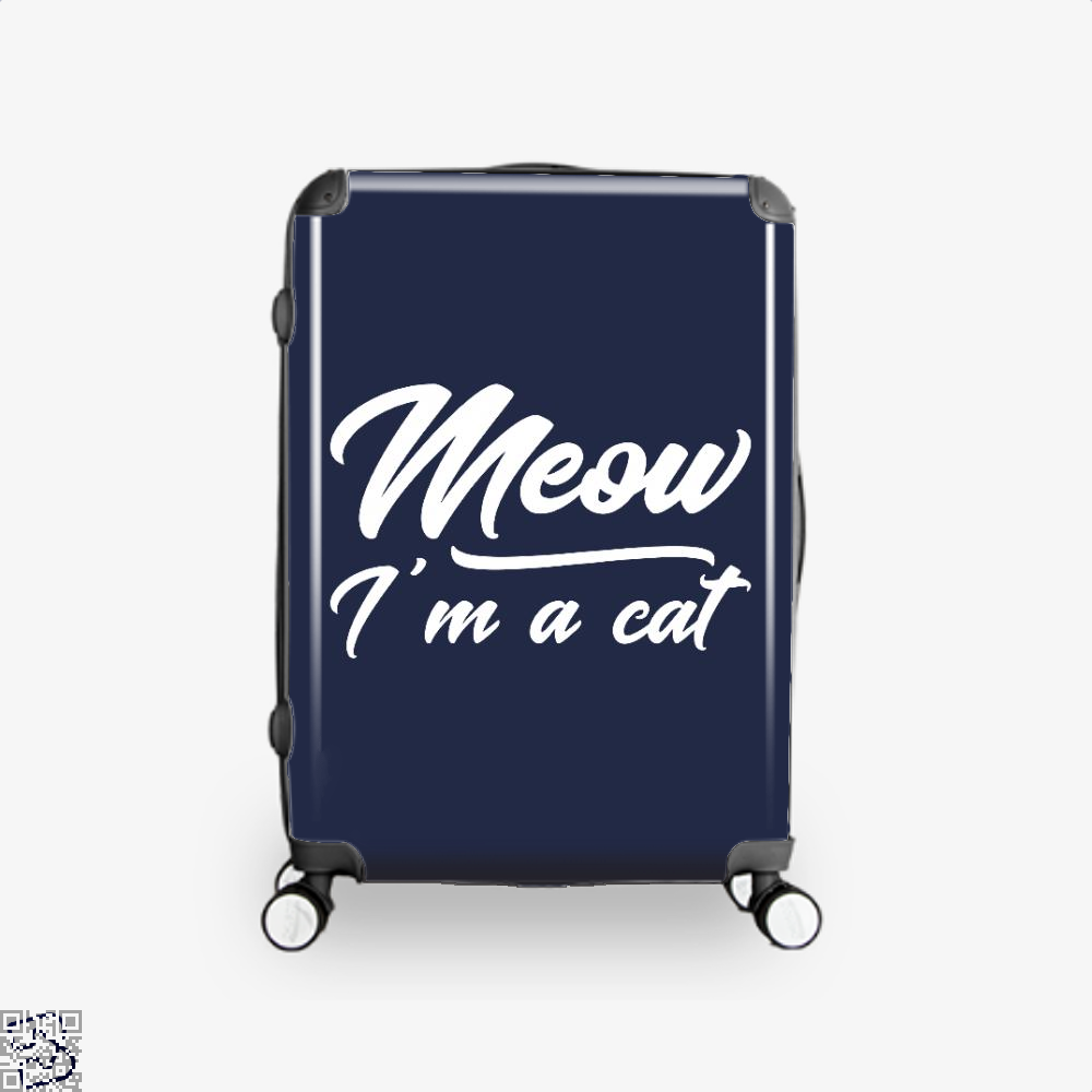 Meow Im A Cat Suitcase - Blue / 16 - Productgenjpg