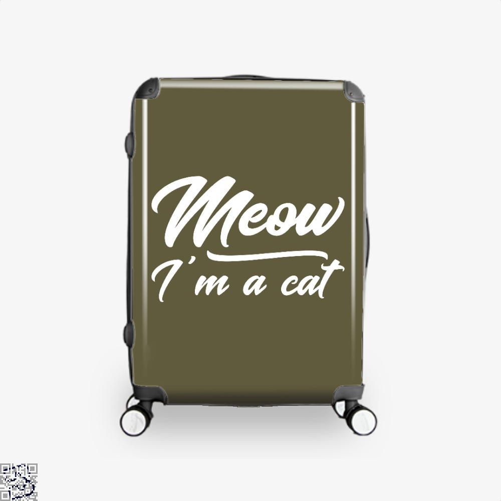 Meow Im A Cat Suitcase - Brown / 16 - Productgenjpg