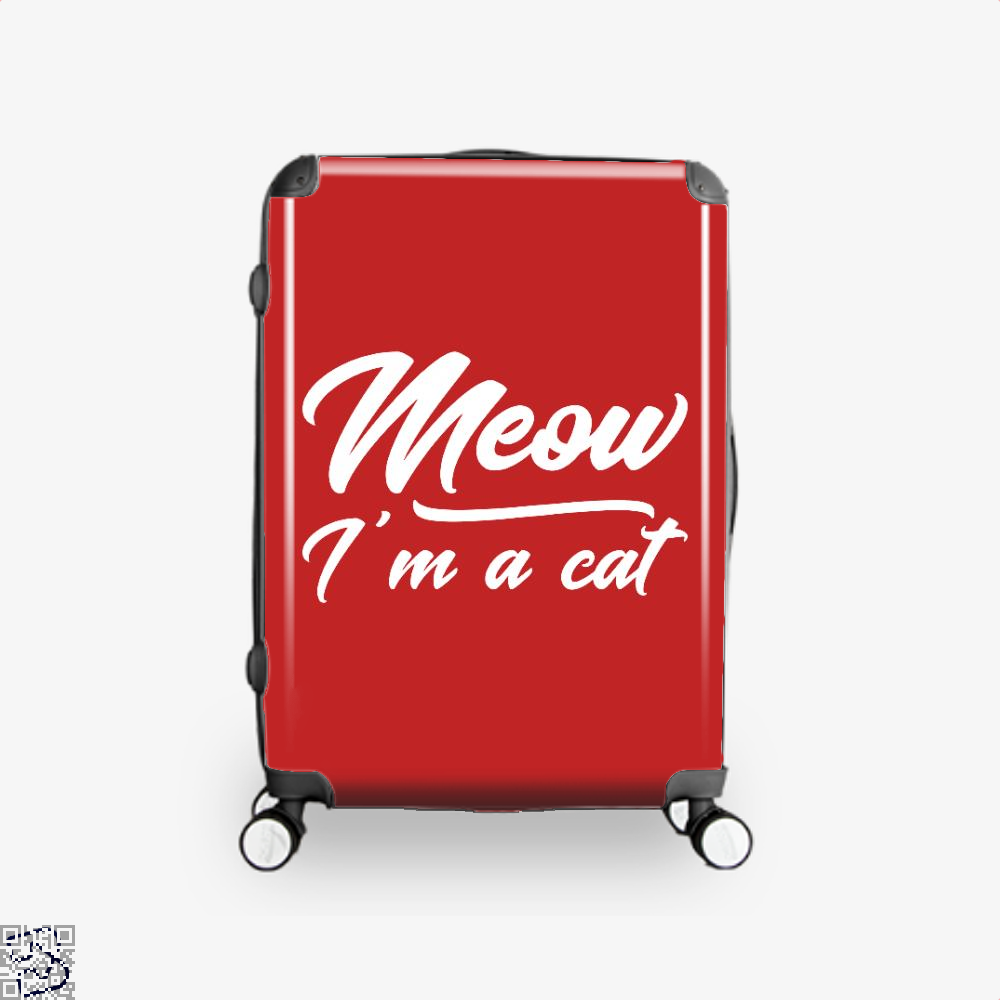 Meow Im A Cat Suitcase - Red / 16 - Productgenjpg