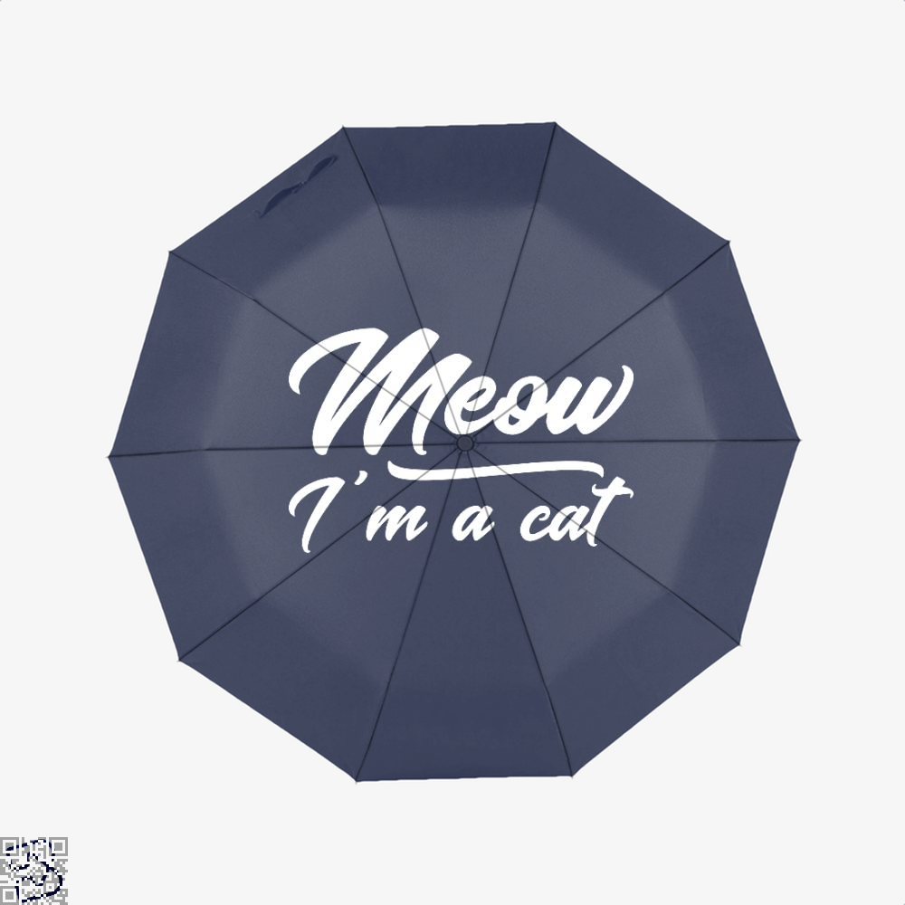 Meow Im A Cat Umbrella - Blue - Productgenjpg