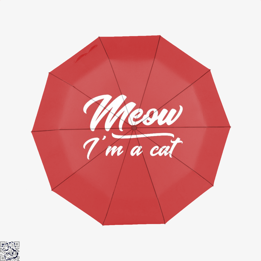 Meow Im A Cat Umbrella - Red - Productgenjpg