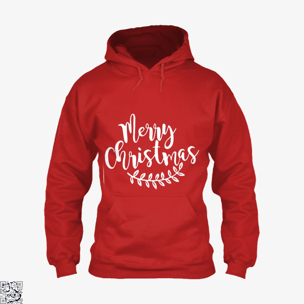 Merry Christmas Hoodie - Red / X-Small - Productgenjpg