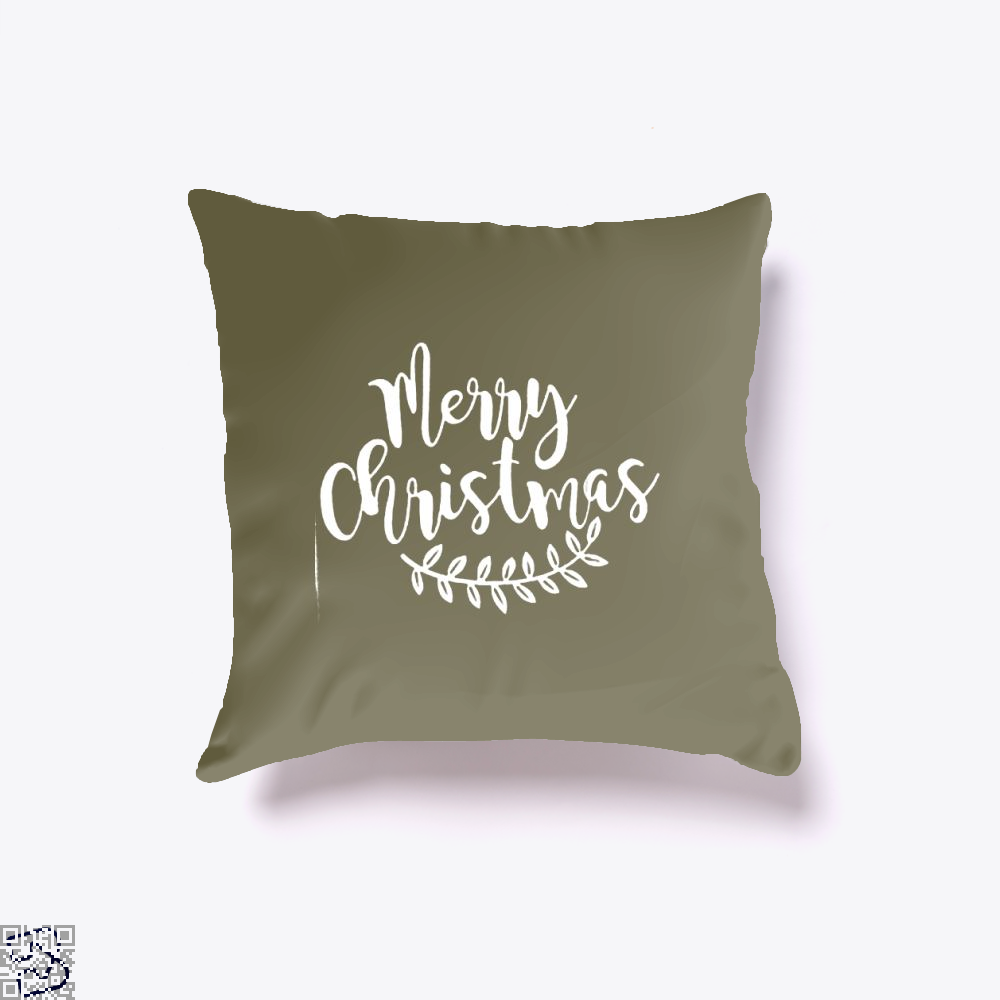Merry Christmas Throw Pillow Cover - Brown / 16 X - Productgenjpg