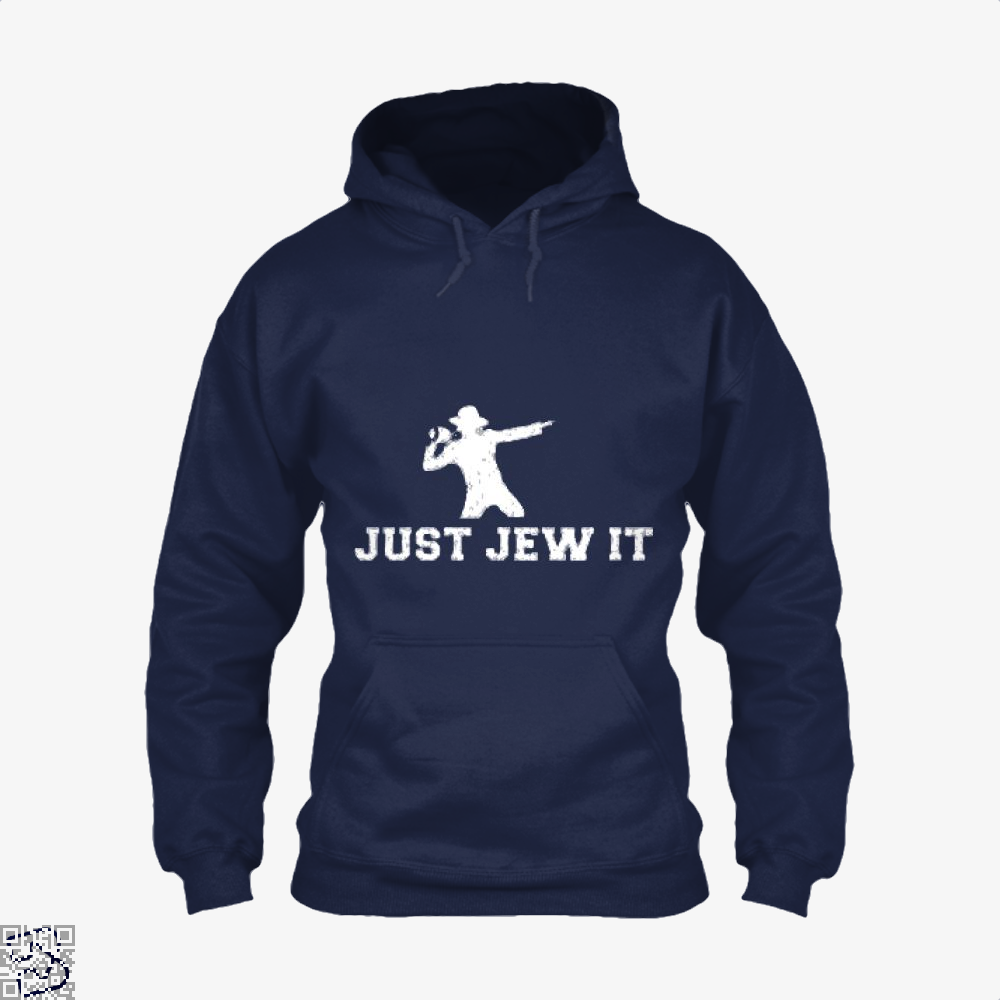 Michael Jackson Just Jew It Parodic Hoodie - Blue / X-Small - Productgenjpg