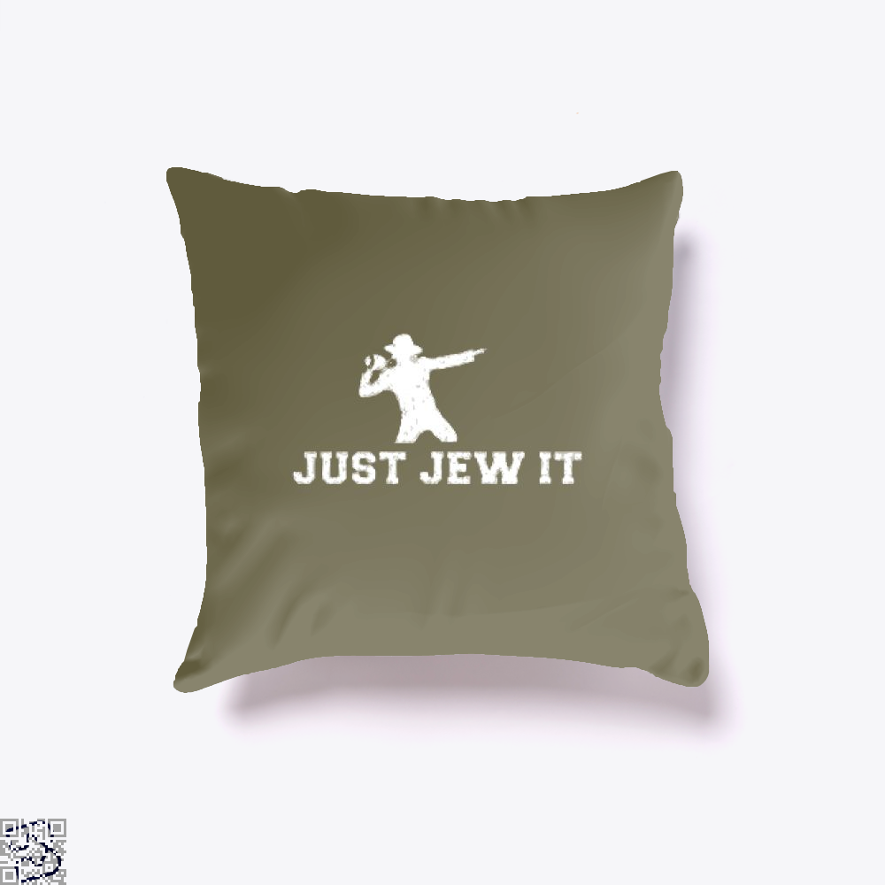 Michael Jackson Just Jew It Parodic Throw Pillow Cover - Brown / 16 X - Productgenjpg