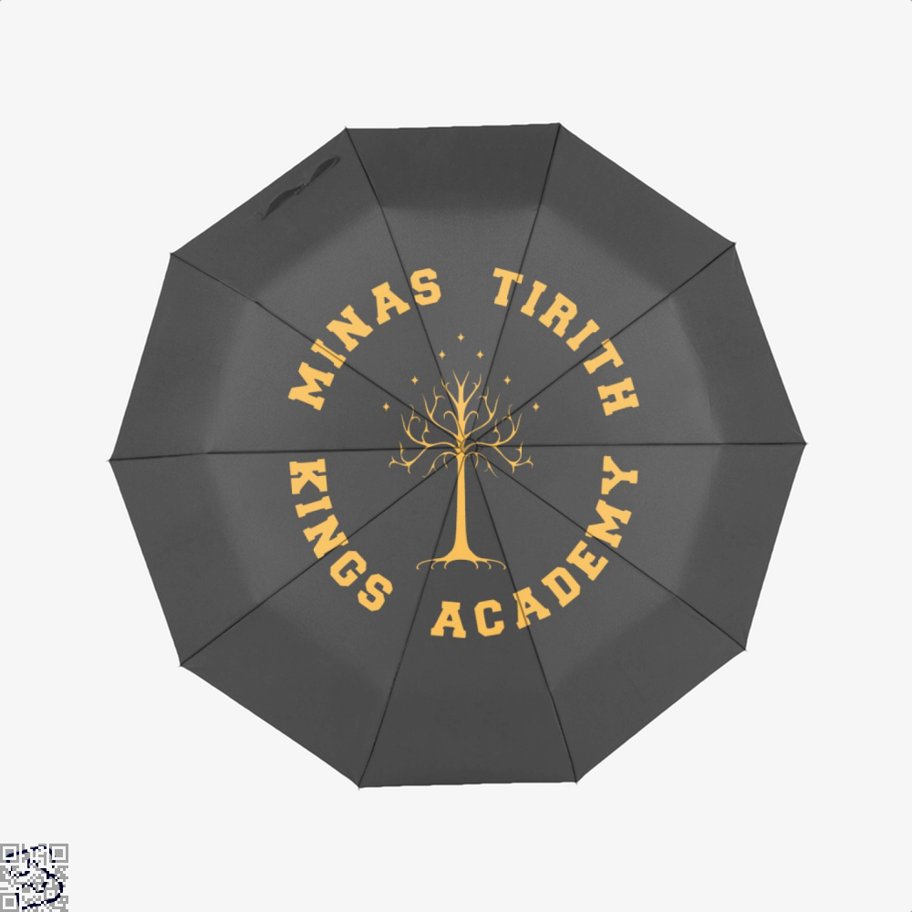 Minas Tirith Academy Gold Lord Of The Rings Umbrella - Black - Productgenjpg