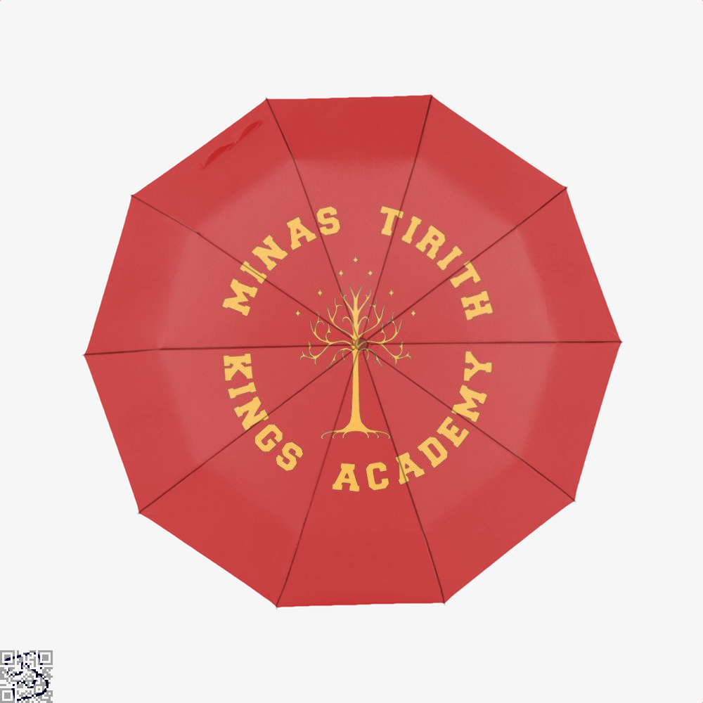 Minas Tirith Academy Gold Lord Of The Rings Umbrella - Red - Productgenjpg