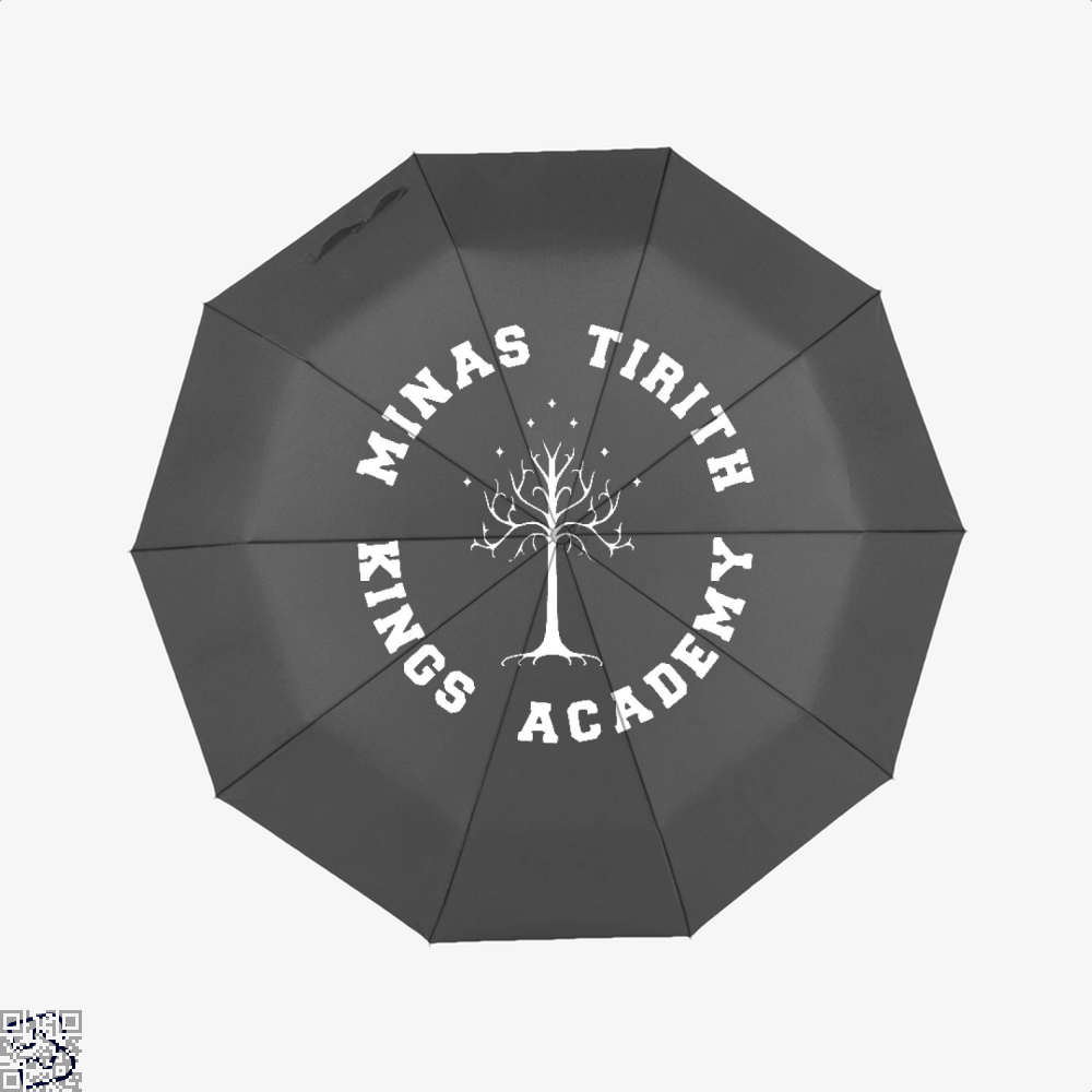 Minas Tirith Academy White Lord Of The Rings Umbrella - Black - Productgenapi