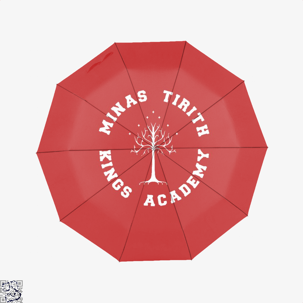 Minas Tirith Academy White Lord Of The Rings Umbrella - Red - Productgenapi