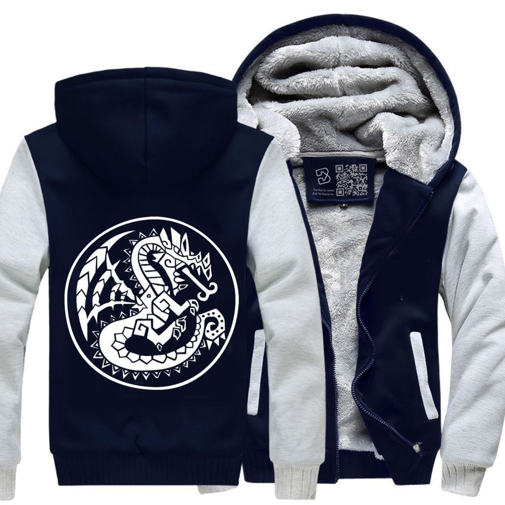 Monster Hunter Fleece Jacket - White / X-Small - Productgenjpg