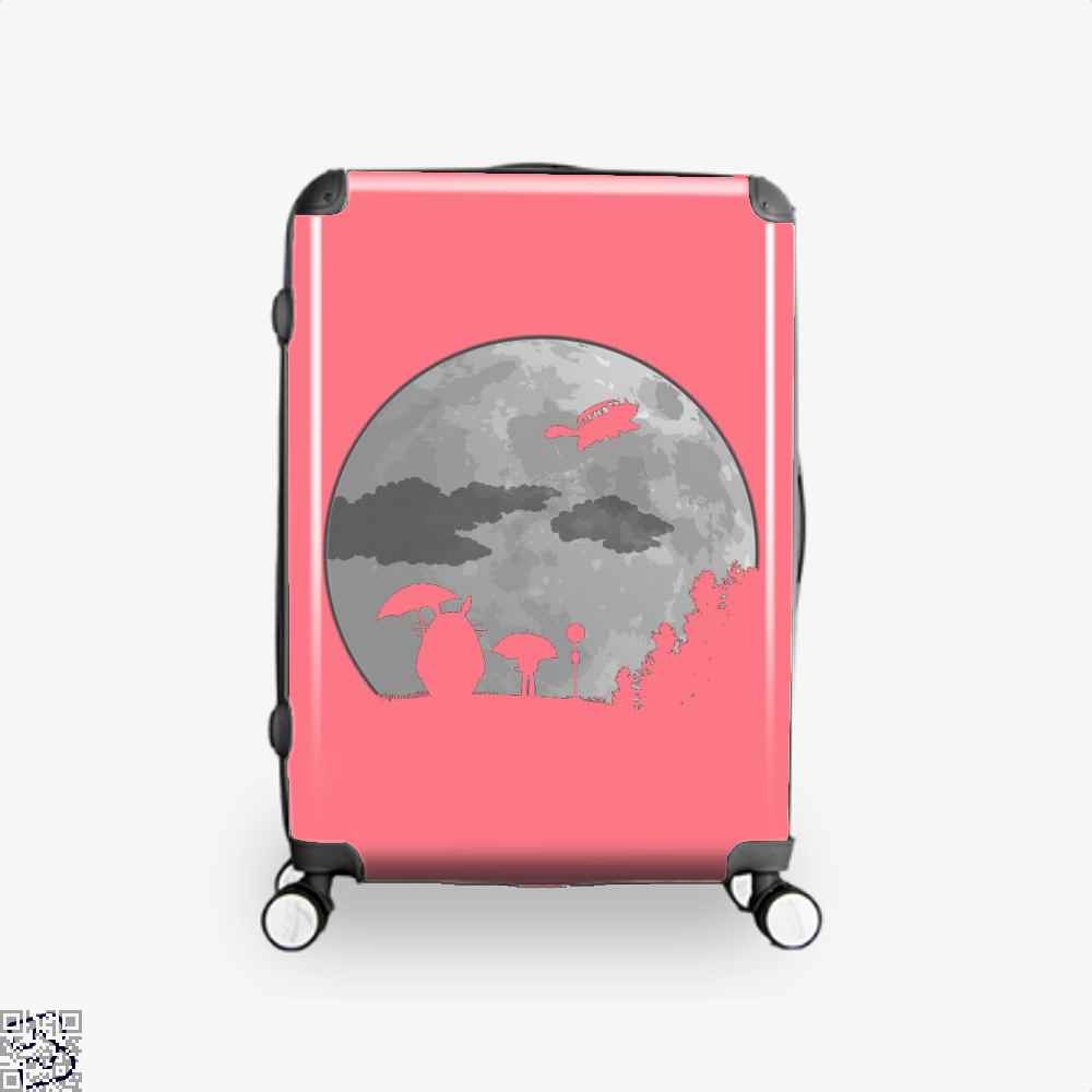 Moon Light My Neighbour Totoro Suitcase - Pink / 16 - Productgenapi