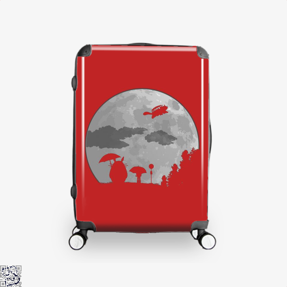 Moon Light My Neighbour Totoro Suitcase - Red / 16 - Productgenapi