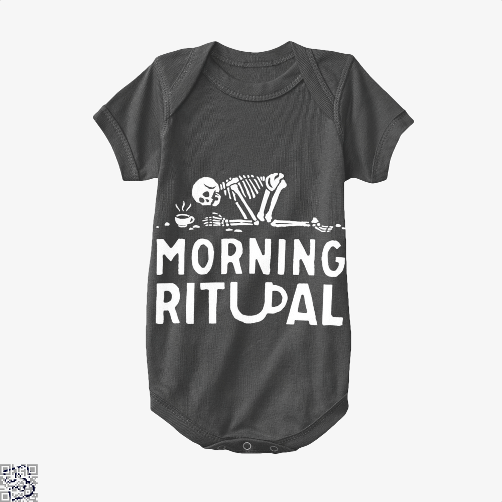 Morning Ritual Coffee Baby Onesie - Black / 0-3 Months - Productgenapi