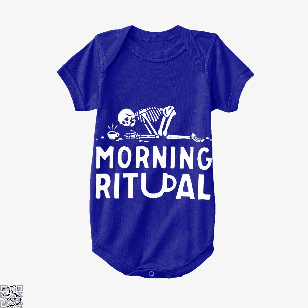 Morning Ritual Coffee Baby Onesie - Navy / 0-3 Months - Productgenapi