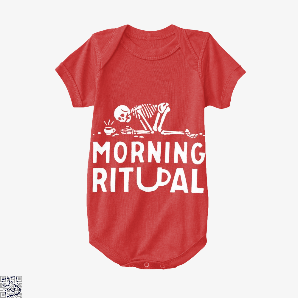 Morning Ritual Coffee Baby Onesie - Red / 0-3 Months - Productgenapi