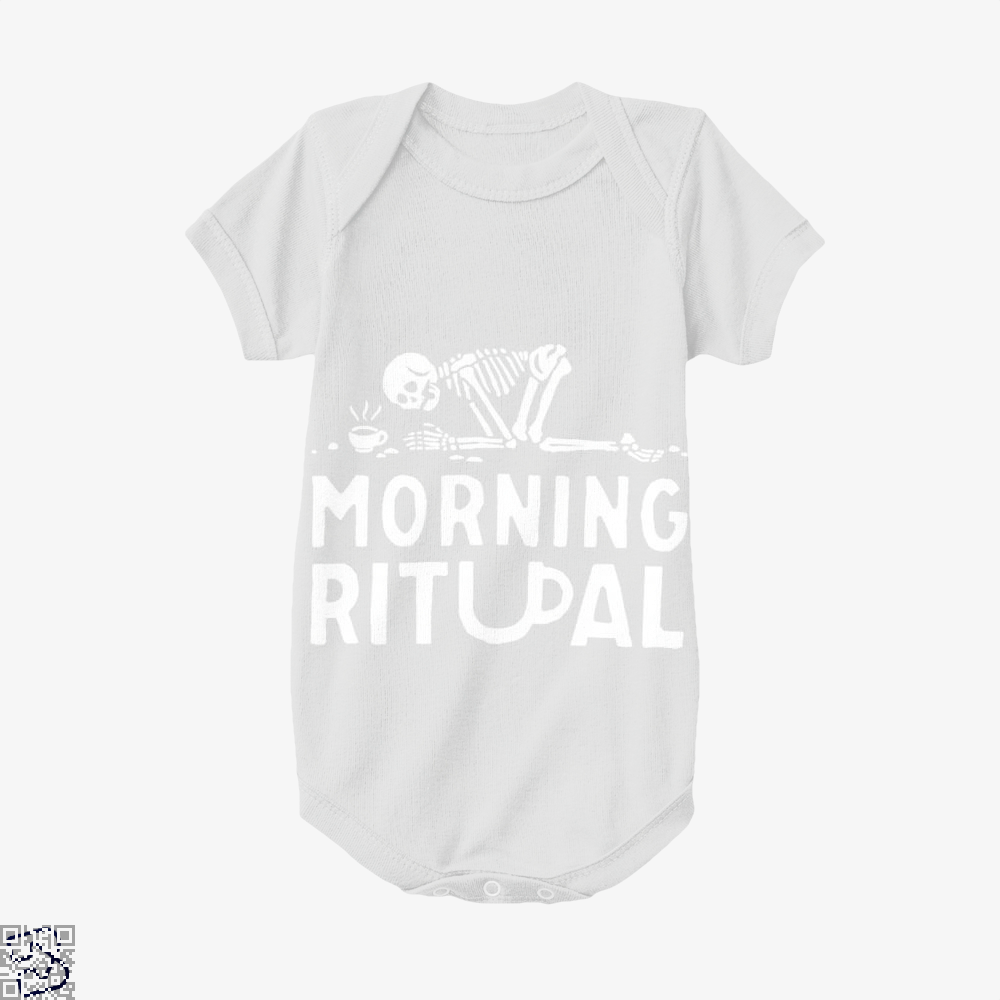 Morning Ritual Coffee Baby Onesie - White / 0-3 Months - Productgenapi