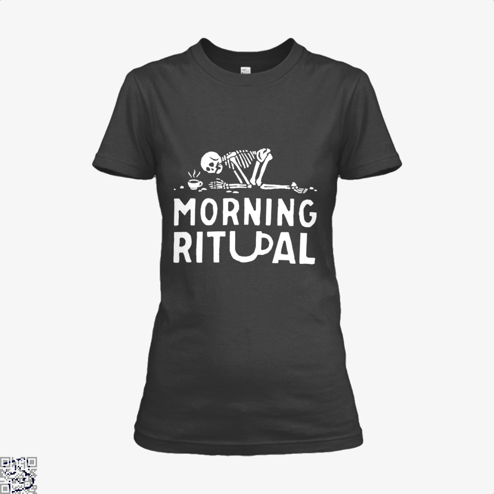 Morning Ritual Coffee Shirt - Women / Black / X-Small - Productgenapi