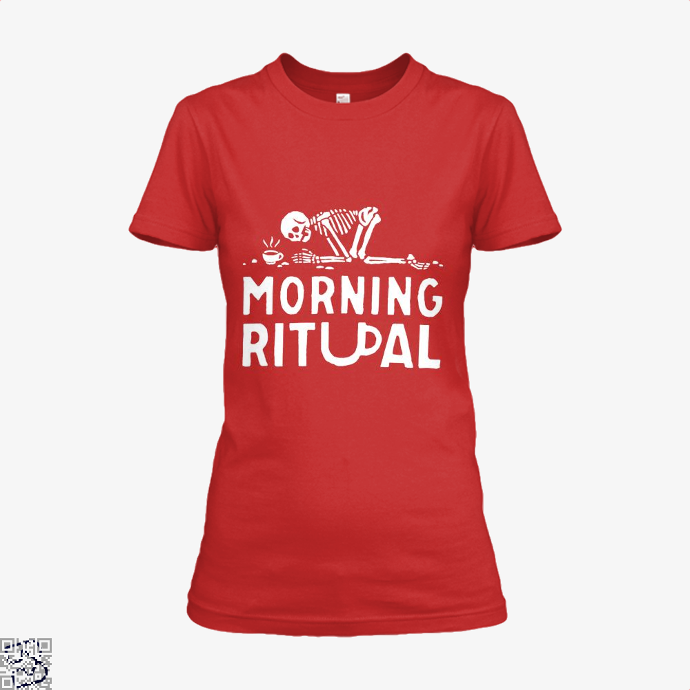 Morning Ritual Coffee Shirt - Women / Red / X-Small - Productgenapi