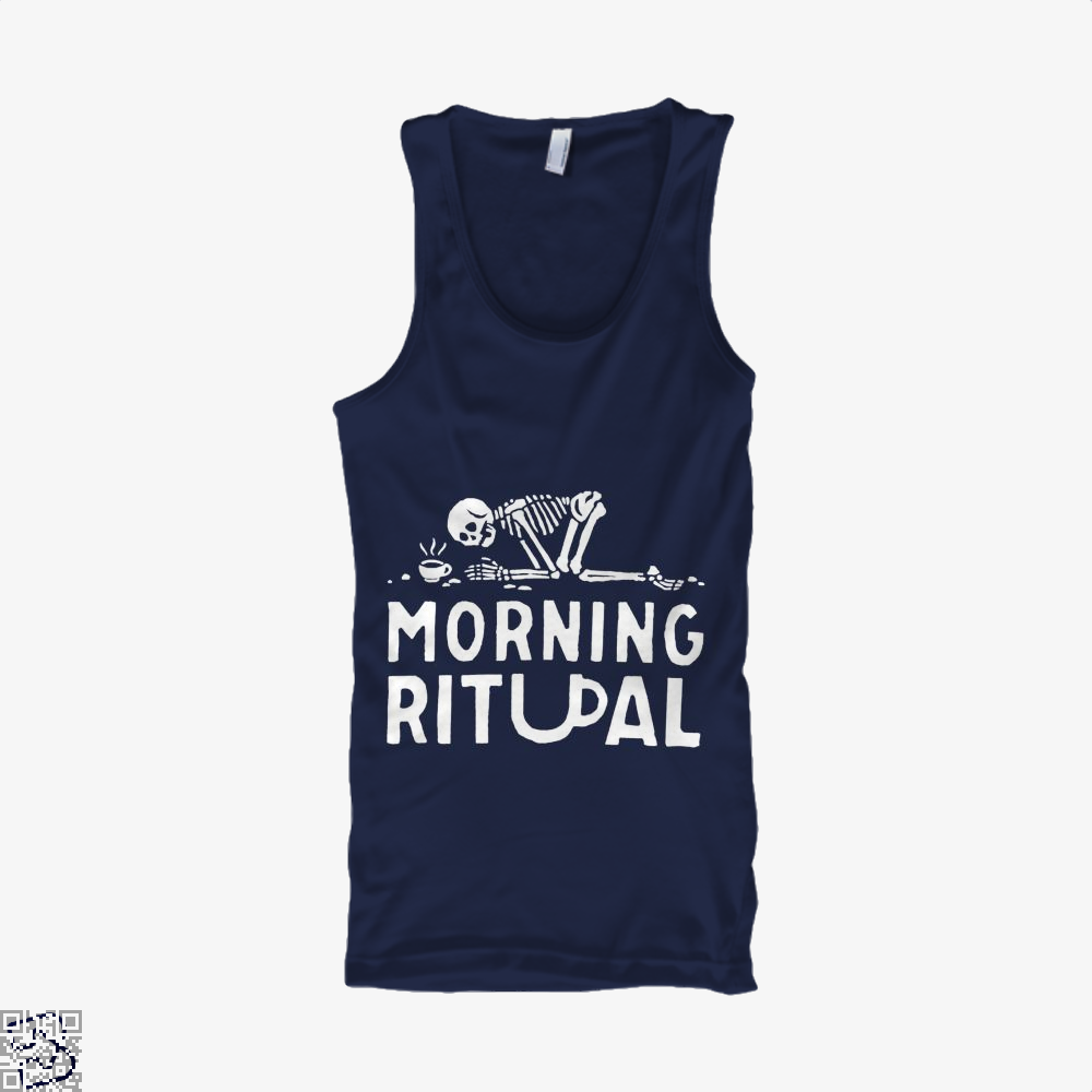 Morning Ritual Coffee Tank Top - Men / Blue / Small - Productgenapi