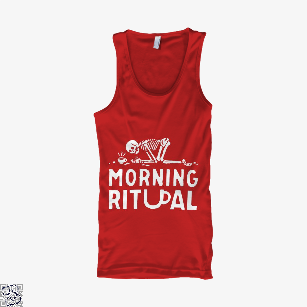 Morning Ritual Coffee Tank Top - Women / Red / Small - Productgenapi