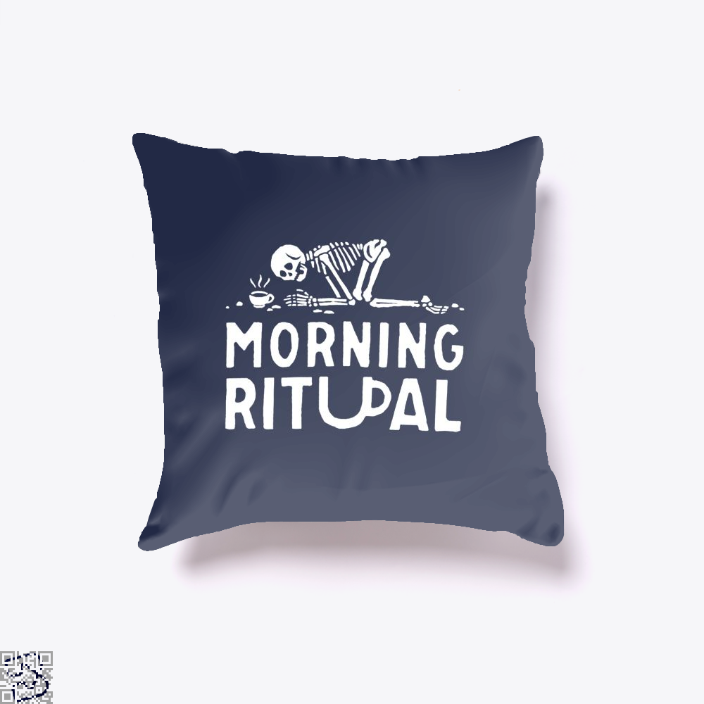 Morning Ritual Coffee Throw Pillow Cover - Blue / 16 X - Productgenapi