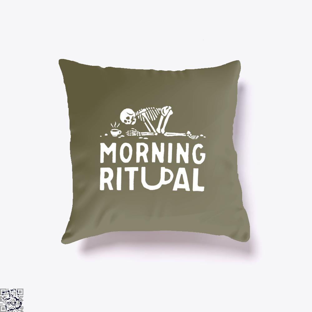Morning Ritual Coffee Throw Pillow Cover - Brown / 16 X - Productgenapi