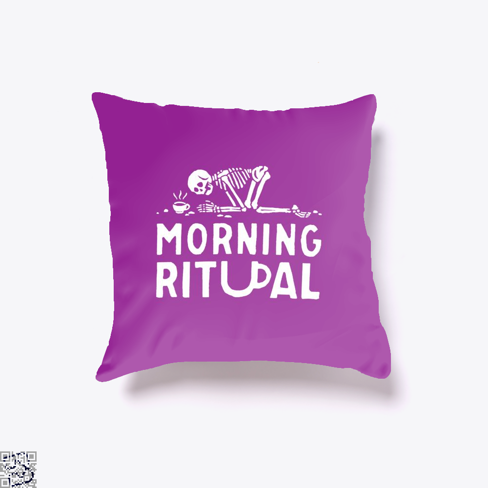 Morning Ritual Coffee Throw Pillow Cover - Purple / 16 X - Productgenapi