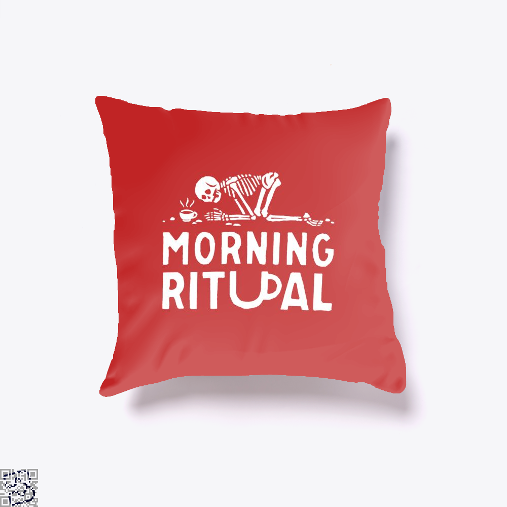 Morning Ritual Coffee Throw Pillow Cover - Red / 16 X - Productgenapi