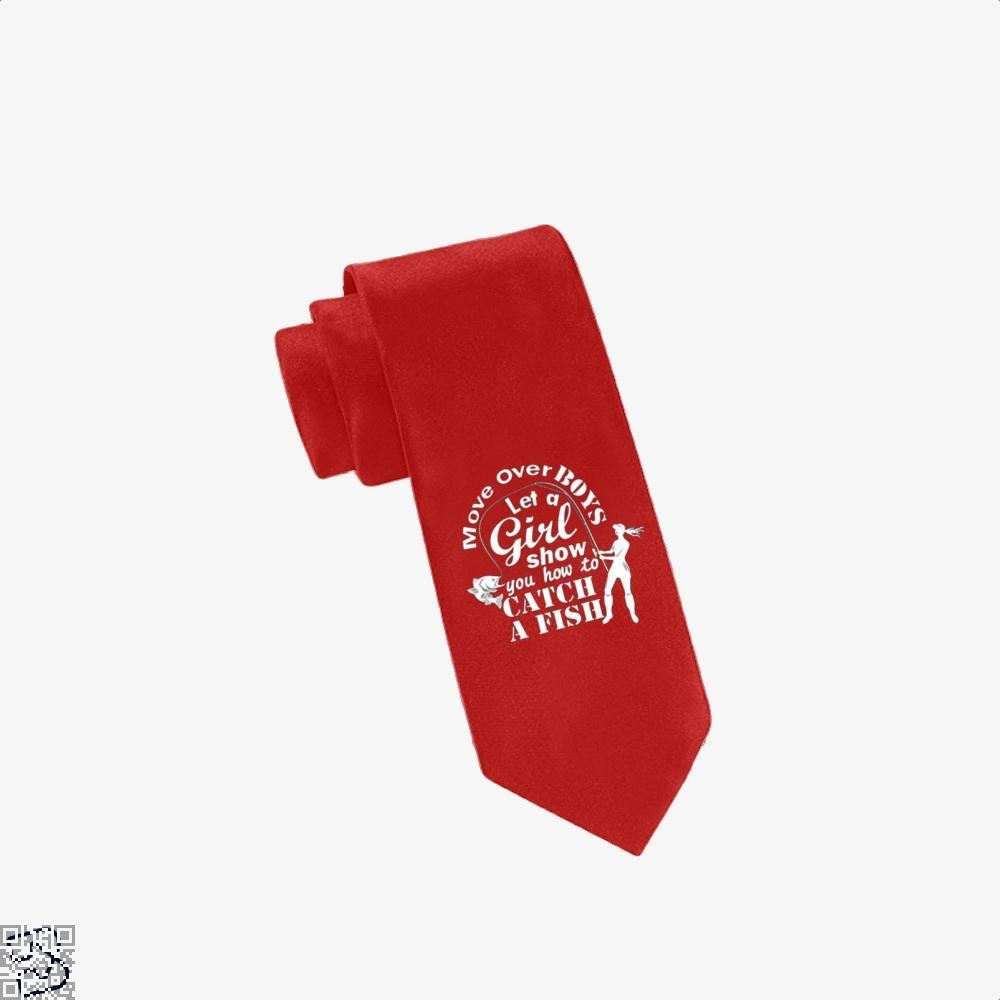 Move Over Boys Fishing Tie - Red - Productgenjpg