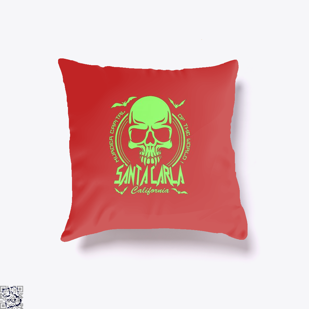Murder Capital Of The World Buffy The Vampire Slayer Throw Pillow Cover - Red / 16 X - Productgenjpg
