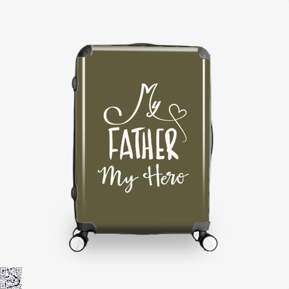 My Father Hero Fathers Day Suitcase - Brown / 16 - Productgenapi