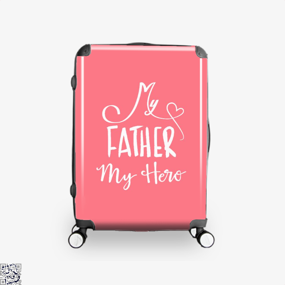 My Father Hero Fathers Day Suitcase - Pink / 16 - Productgenapi