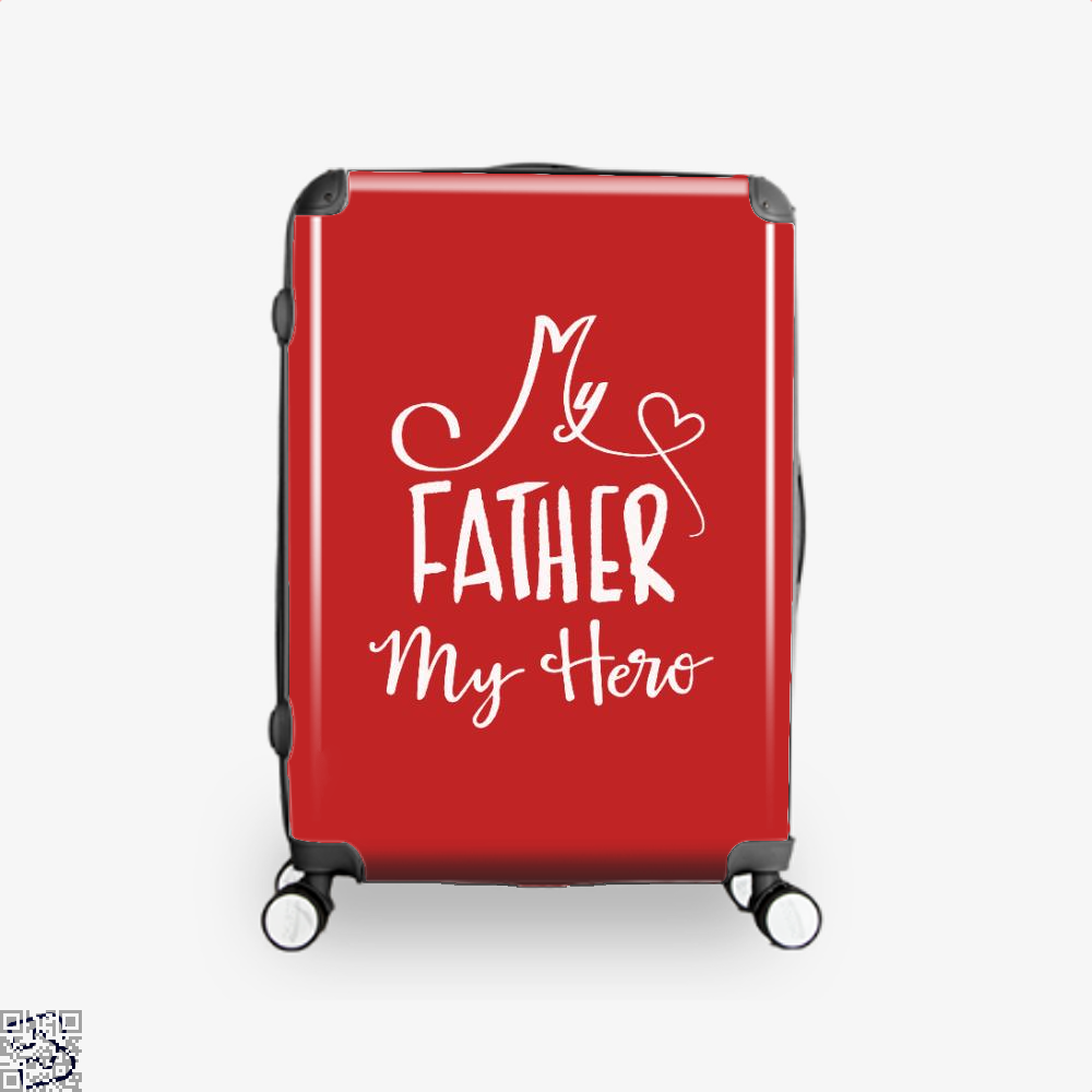 My Father Hero Fathers Day Suitcase - Red / 16 - Productgenapi