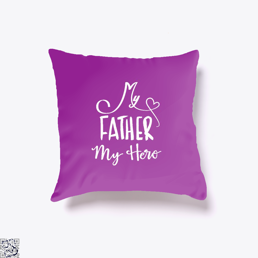 My Father Hero Fathers Day Throw Pillow Cover - Purple / 16 X - Productgenjpg