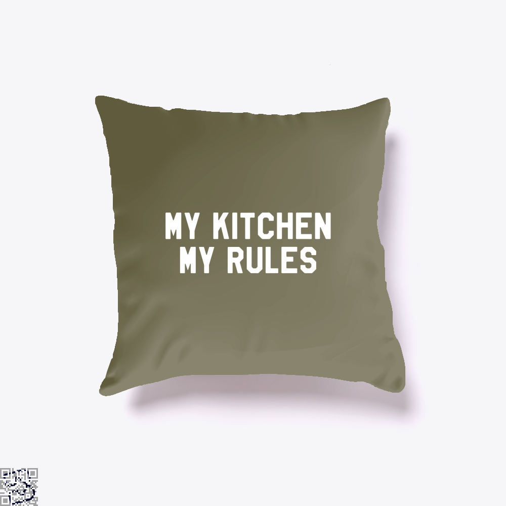 My Kitchen Rules Chefs Throw Pillow Cover - Brown / 16 X - Productgenapi