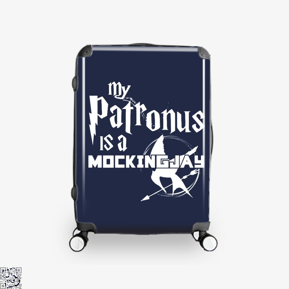 My Patronus Is A Mockingjay Harry Potter Suitcase - Blue / 16 - Productgenjpg