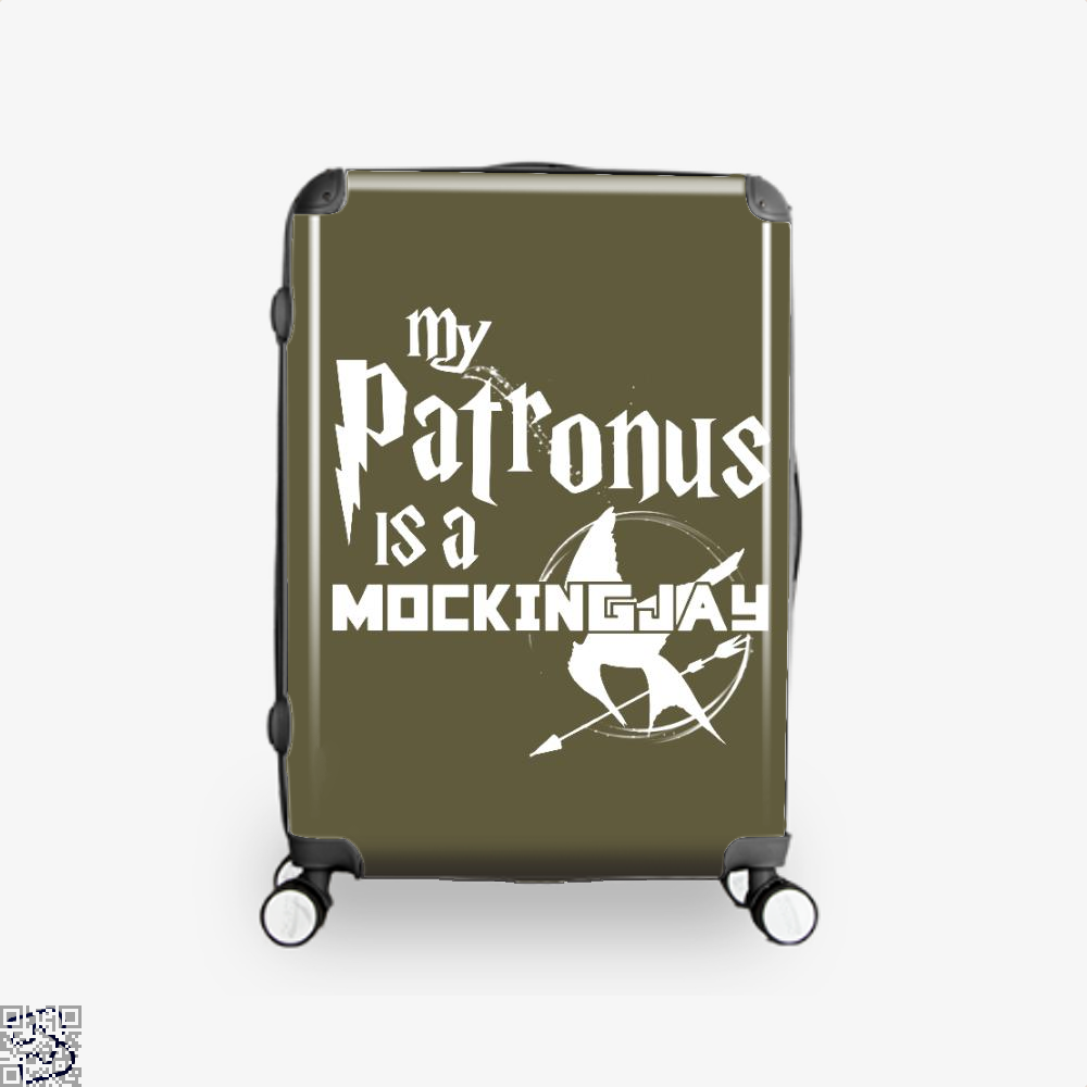 My Patronus Is A Mockingjay Harry Potter Suitcase - Brown / 16 - Productgenjpg
