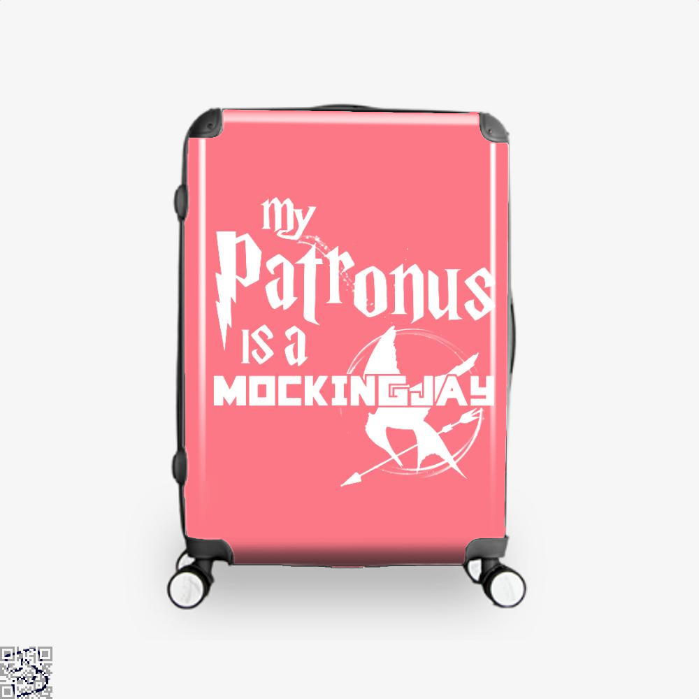 My Patronus Is A Mockingjay Harry Potter Suitcase - Pink / 16 - Productgenjpg