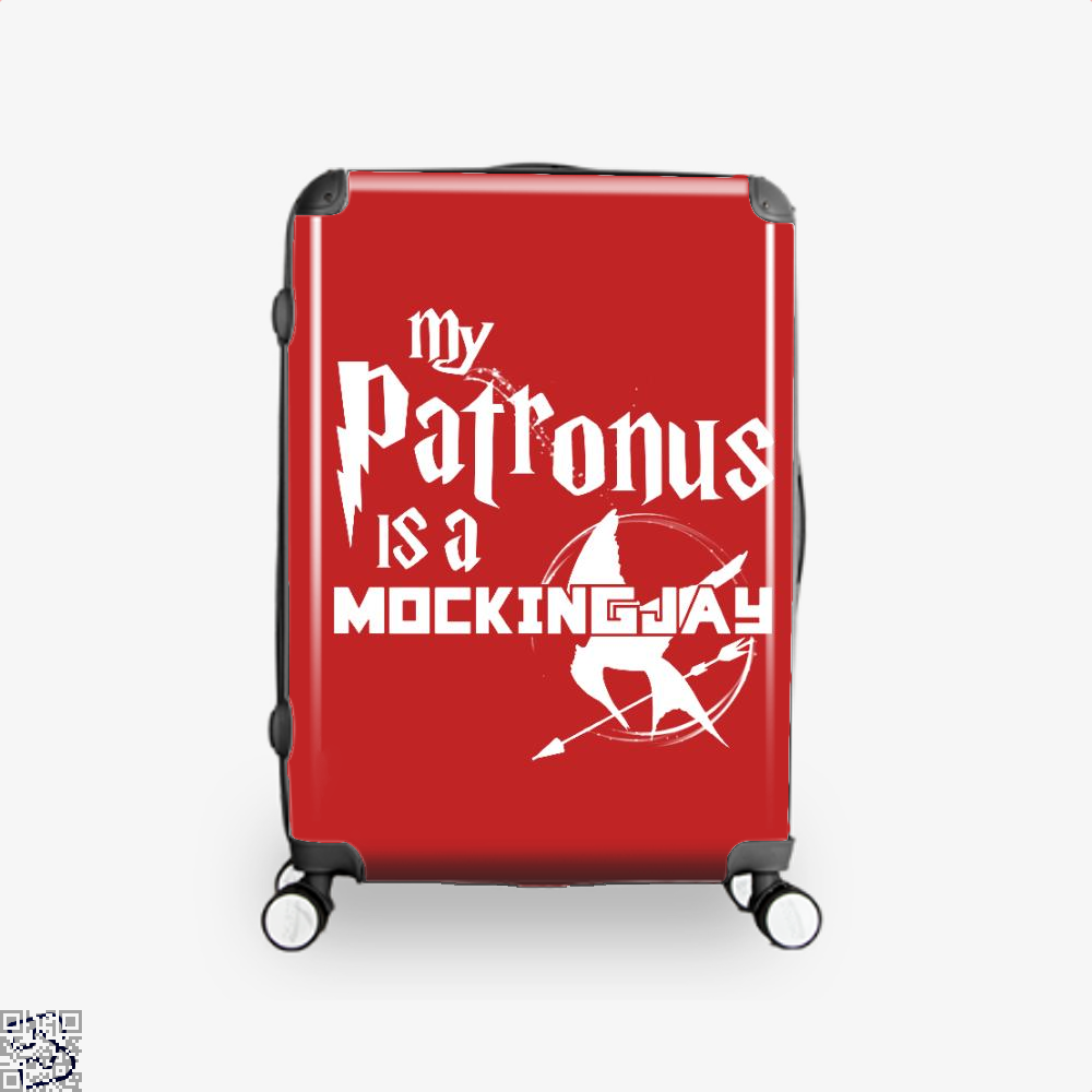 My Patronus Is A Mockingjay Harry Potter Suitcase - Red / 16 - Productgenjpg
