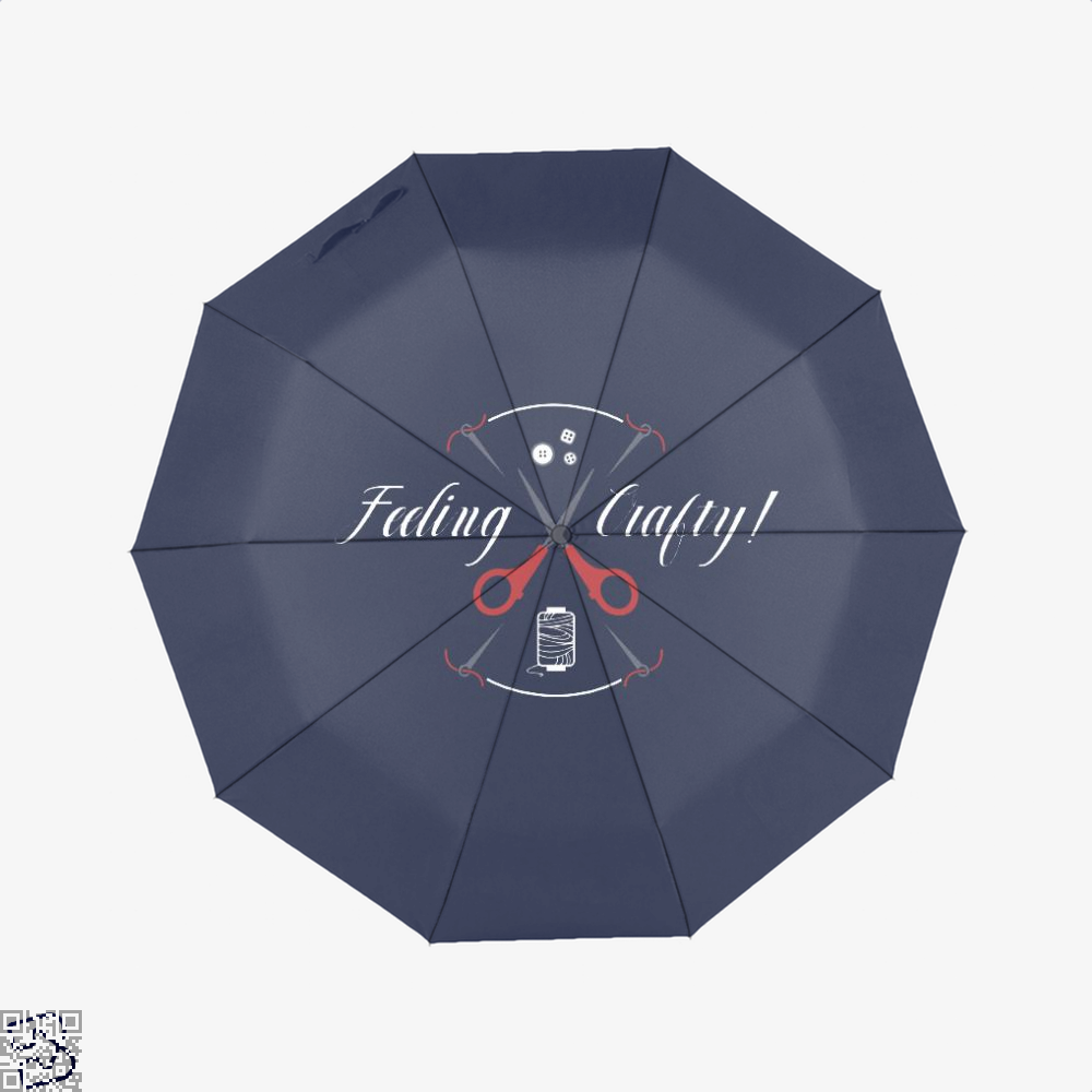 Needle And Thread Feeling Crafty Sewing Umbrella - Blue - Productgenjpg