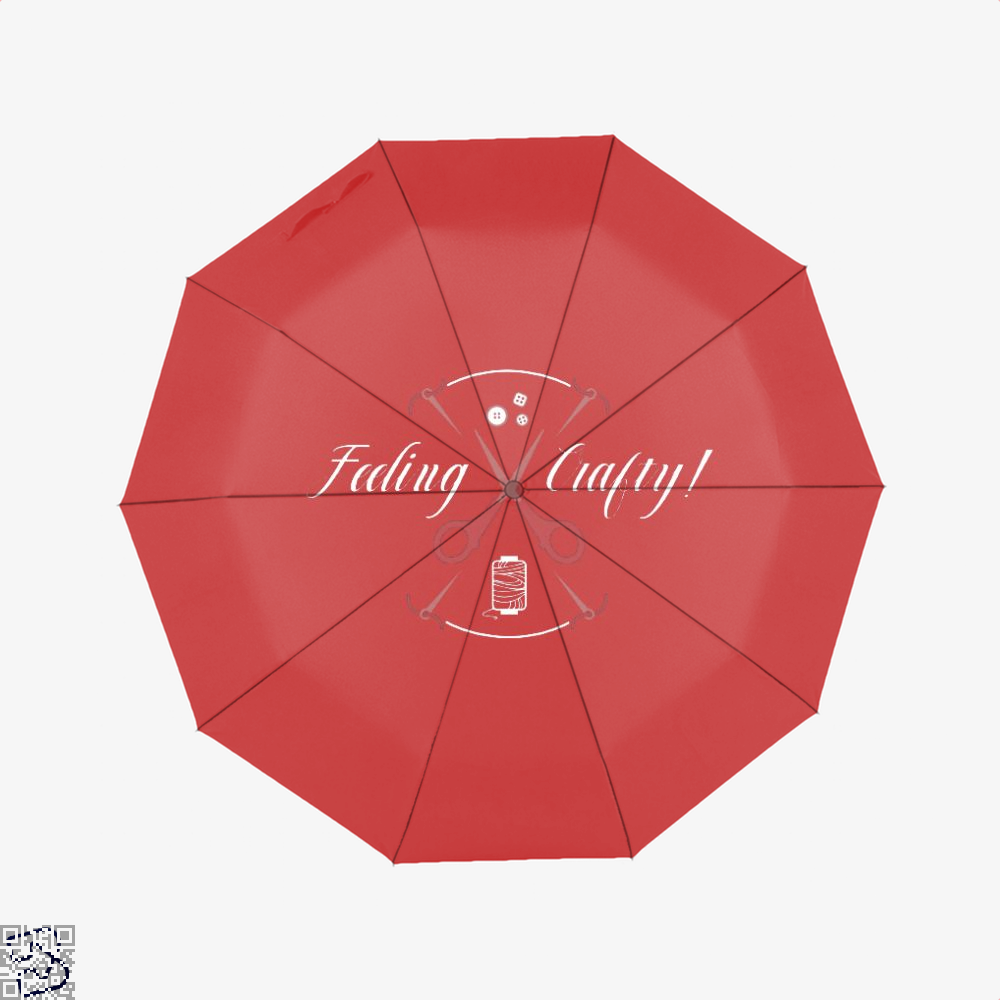 Needle And Thread Feeling Crafty Sewing Umbrella - Red - Productgenjpg