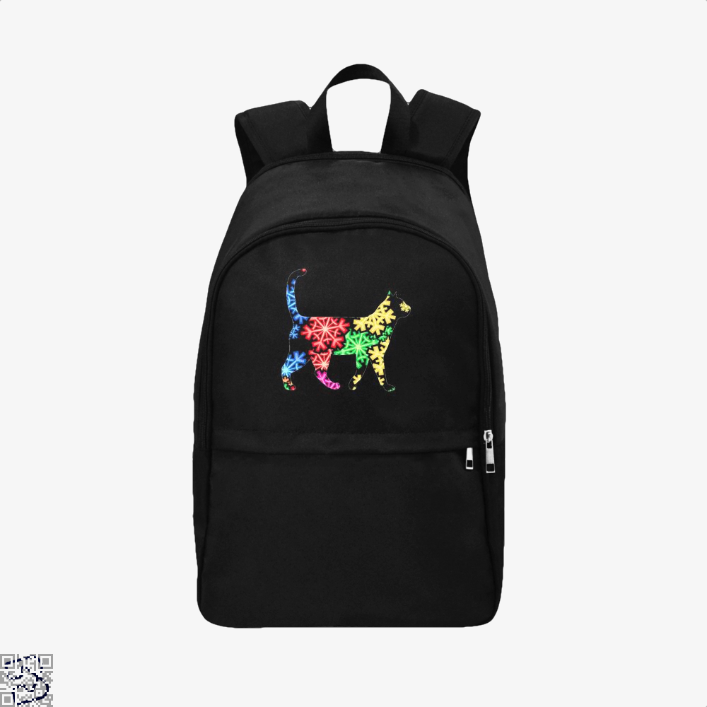 Neon Snowflake Cat Backpack - Black / Adult - Productgenjpg