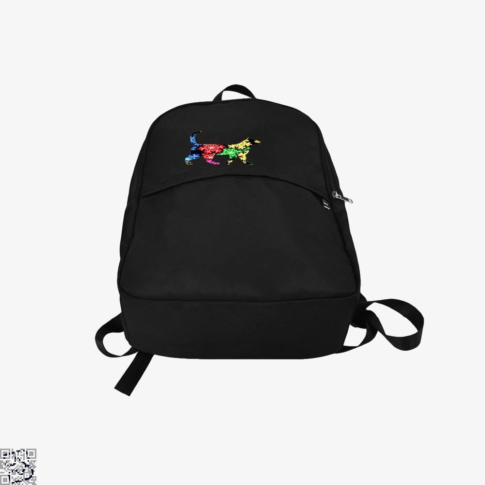 Neon Snowflake Cat Backpack - Productgenjpg