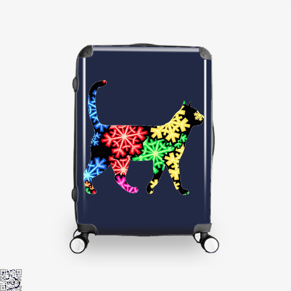 Neon Snowflake Cat Suitcase - Blue / 16 - Productgenjpg