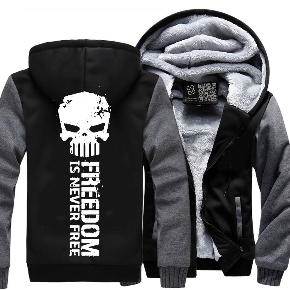 Never Forget Teasing Fleece Jacket - Gray / X-Small - Productgenjpg