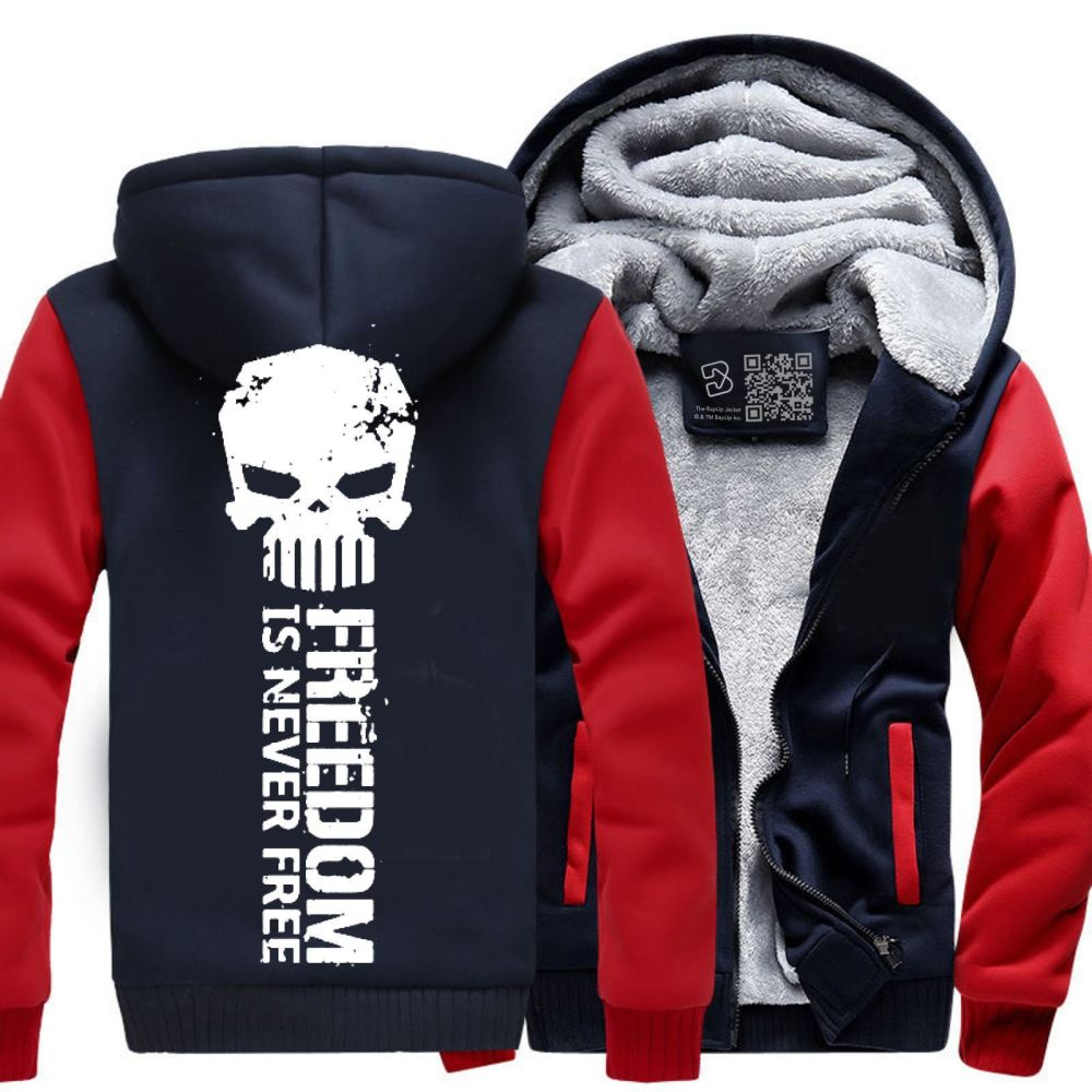 Never Forget Teasing Fleece Jacket - Red / X-Small - Productgenjpg