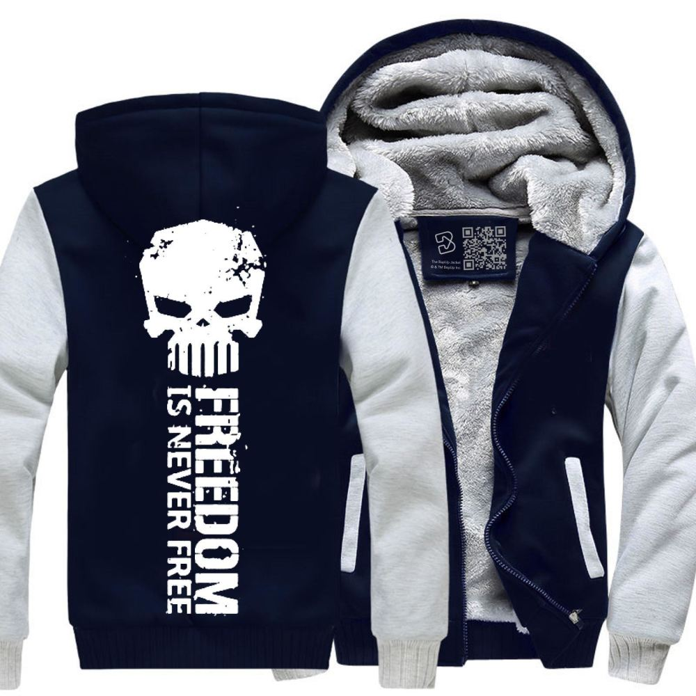 Never Forget Teasing Fleece Jacket - White / X-Small - Productgenjpg