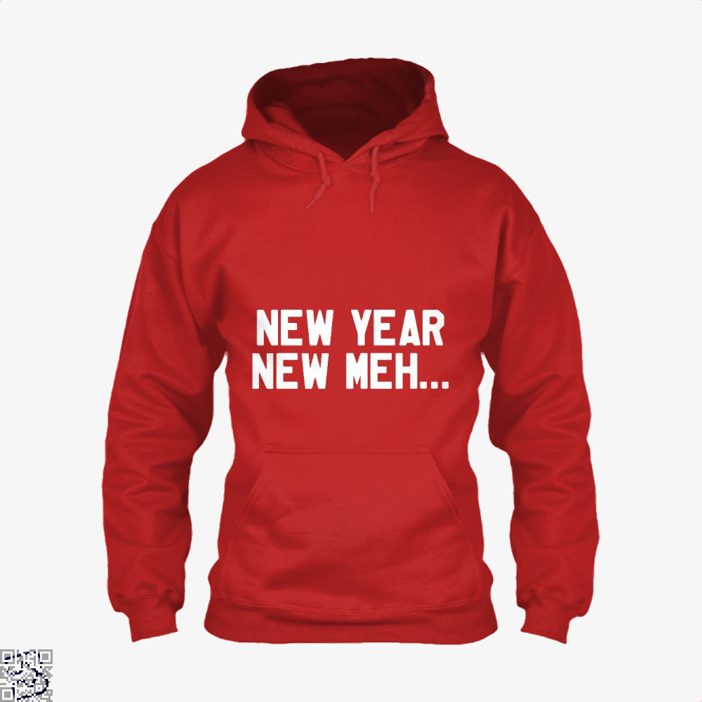 New Year Meh Hoodie - Red / X-Small - Productgenjpg