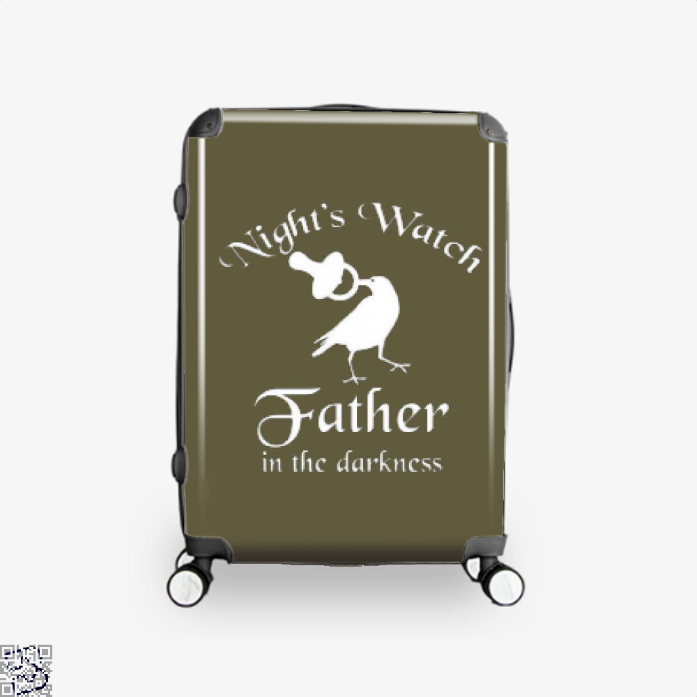 Nights Watch Inspired Game Of Thrones Suitcase - Brown / 16 - Productgenjpg
